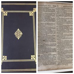 The First American Bible – Leaf Book –  Eliot Indian Bible