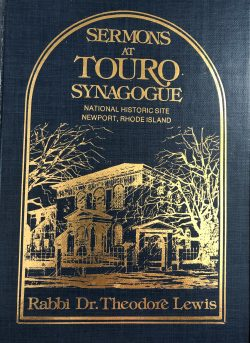Sermons at Touro Synagogue – National Historic Site Newport, Rhode Island