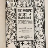 Documentary History of Rhode Island – Howard M. Chapin